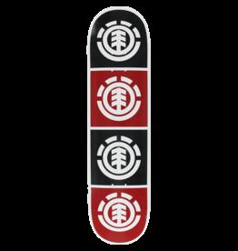 Element QUADRANT DECK-8.0 WHT W/BLK/RED