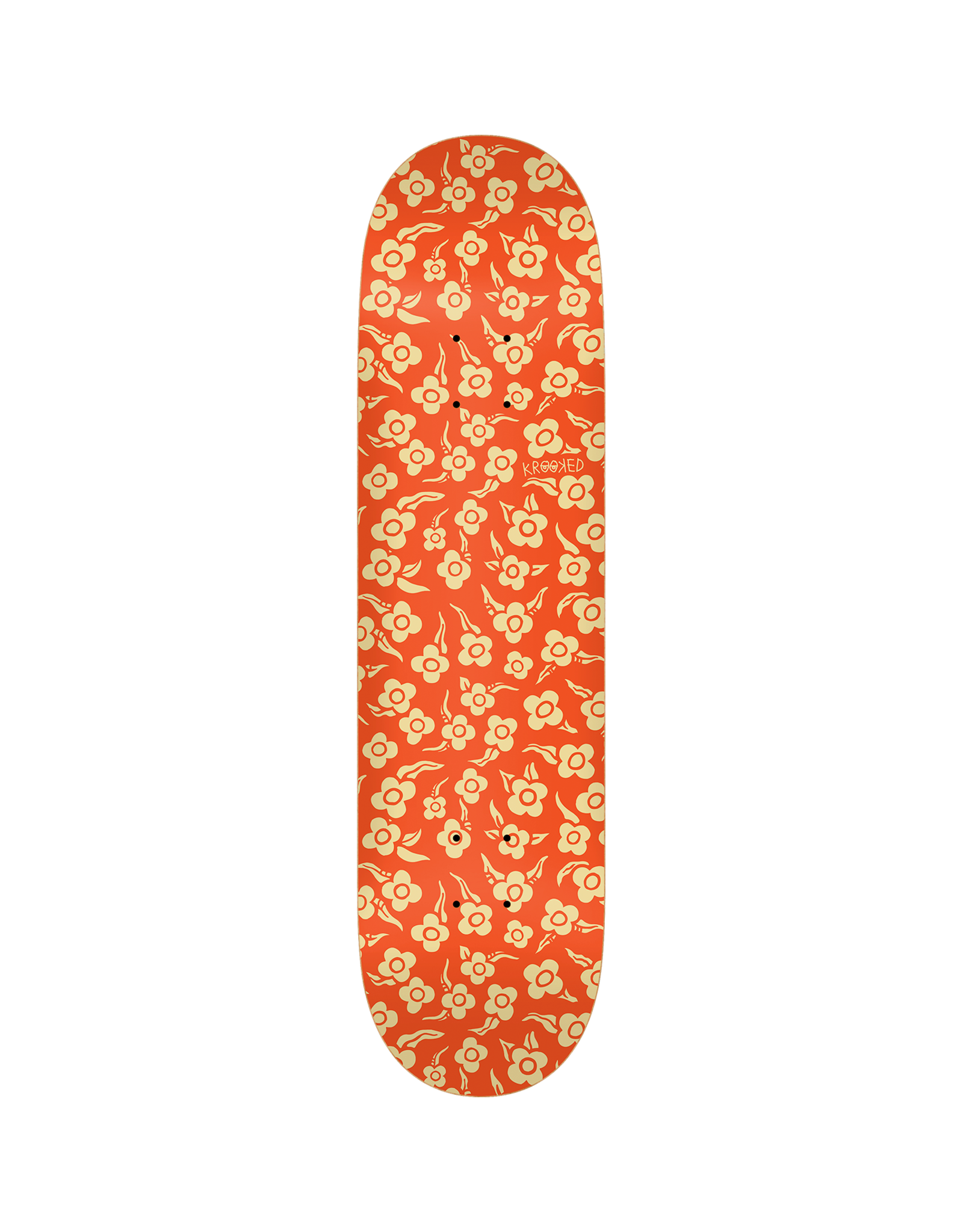 Krooked FLOWERS DECK-8.06 ORANGE