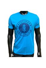 Pathfinder Pine Tree Tee Turquoise/Navy