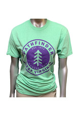 Pathfinder Pine Tree Tee Apple Green/Purple