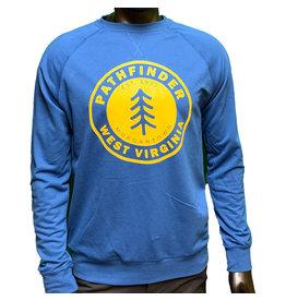 Pathfinder Pine Tree French Terry Raglan Crew Cool Blue/Gold