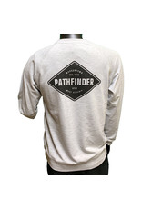 Pathfinder Diamond French Terry Raglan Crew Heather Grey/Black