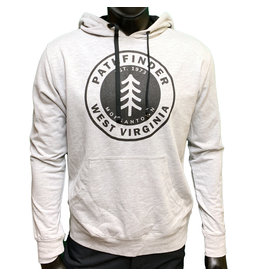 Pathfinder Pine Tree French Terry Hooded Pullover Heather Grey/Black