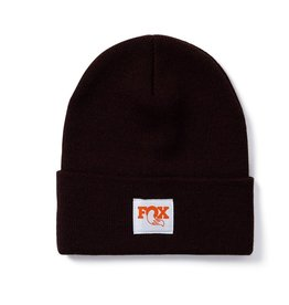 Tight Knit Fold Over Beanie-Brown-O/S