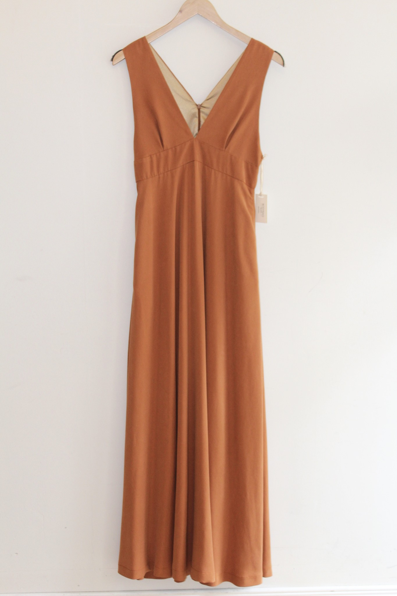 fe0a95f1e2 Long Flowy Cupro Gown in 'Rust' - Kennedy Park