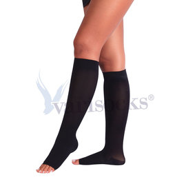 ABCTEKS Compression OPENED TOE BLACK STOCKINGS