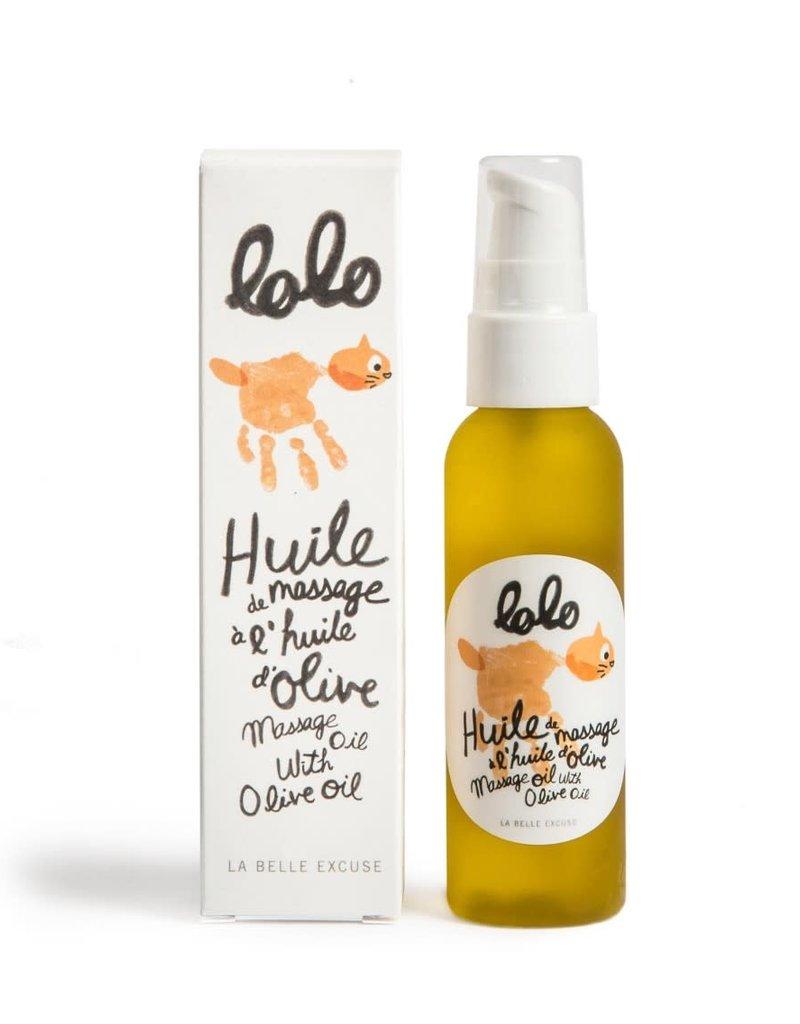 Lolo et moi Huile à massage à l'huile d'olive