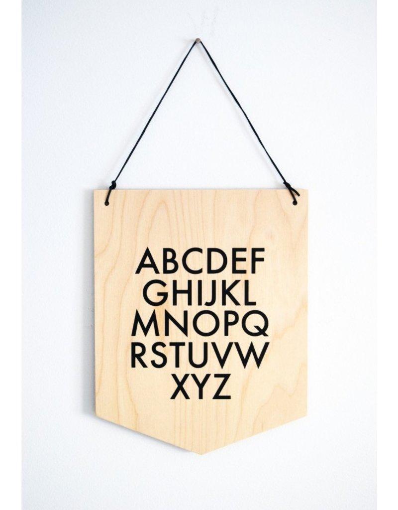 Abricotine Drapeau en bois