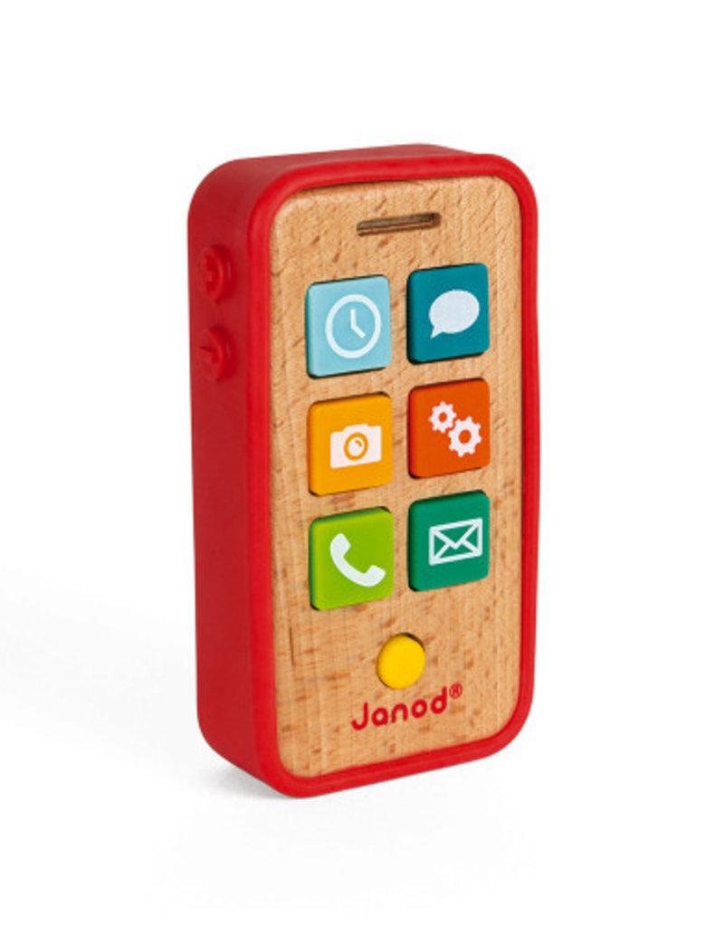 Téléphone sonore en bois