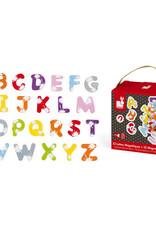 52 lettres magnétiques (bois)
