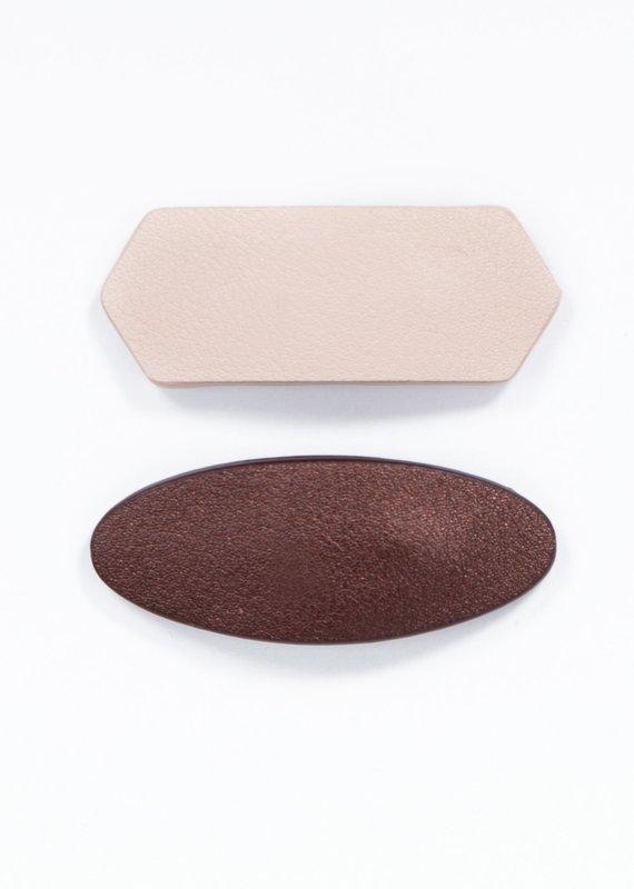 Koru Duo barrette Bronze/Nude
