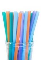Paille silicone vrac/unitaire couleur variée