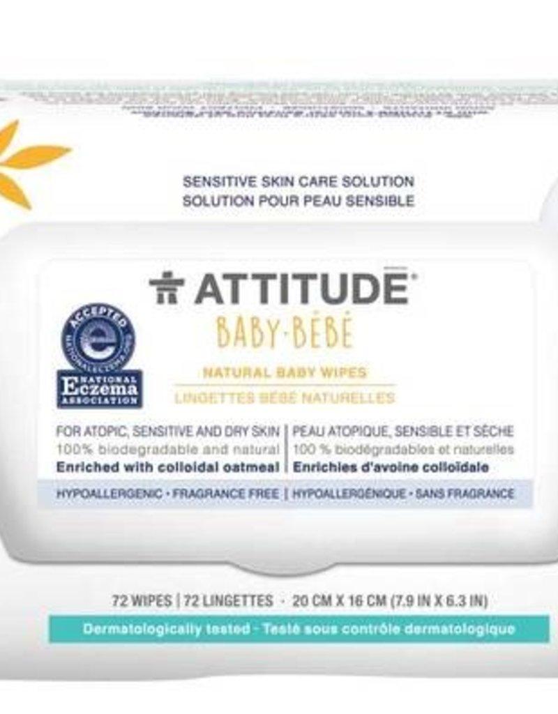 Lingettes jetables (72) Attitude pour peau sensible