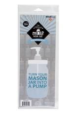 Adaptateur pompe pour pot mason
