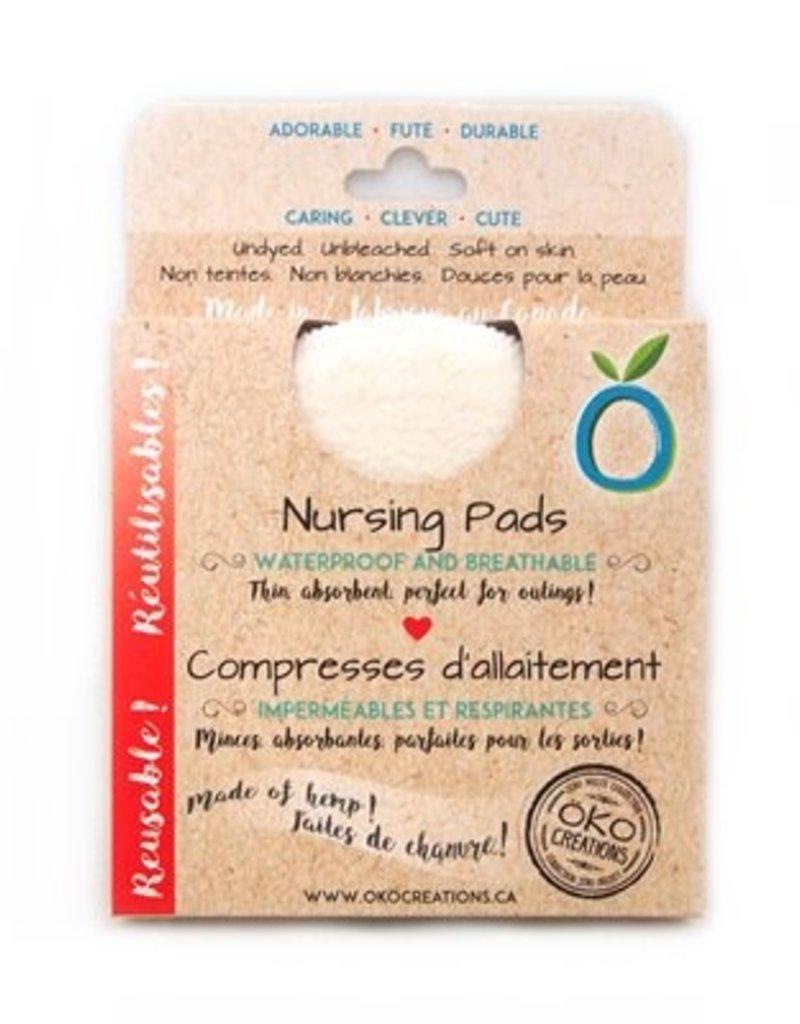 Compresses d'allaitement lavables (4) imperméables et respirantes
