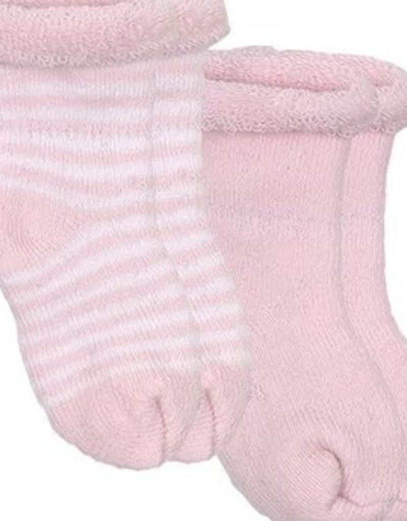 Chaussettes pour nouveau-né (2 paires) rose/rayures roses