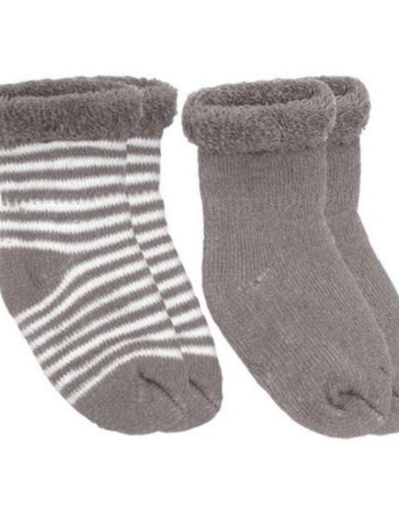 Chaussettes pour nouveau-né (2 paires) Mocha/rayures