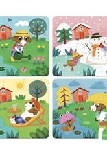 4 puzzles 6 pièces - Quatre saisons