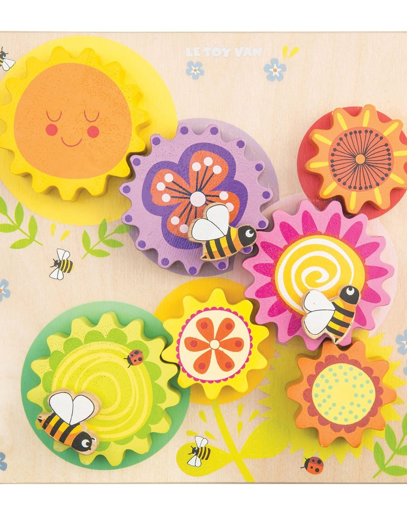 Le toy Van Engrenages en bois Abeille et fleurs