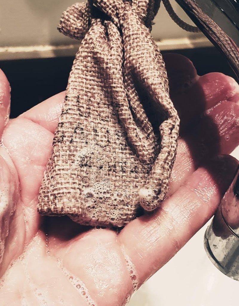 Culture Sauvage Sac en lin pour morceaux de savon