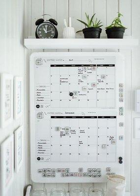 Planificateur familial mensuel aimanté