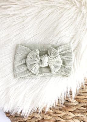 Little Luba Bandeau large noué tricot torsade OS