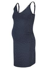 Robe de nuit marine maternité/allaitement bretelles fines