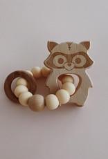Jouet de dentition bois/silicone Raton Laveur