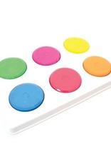 Pastille de peinture à l'eau couleurs vives