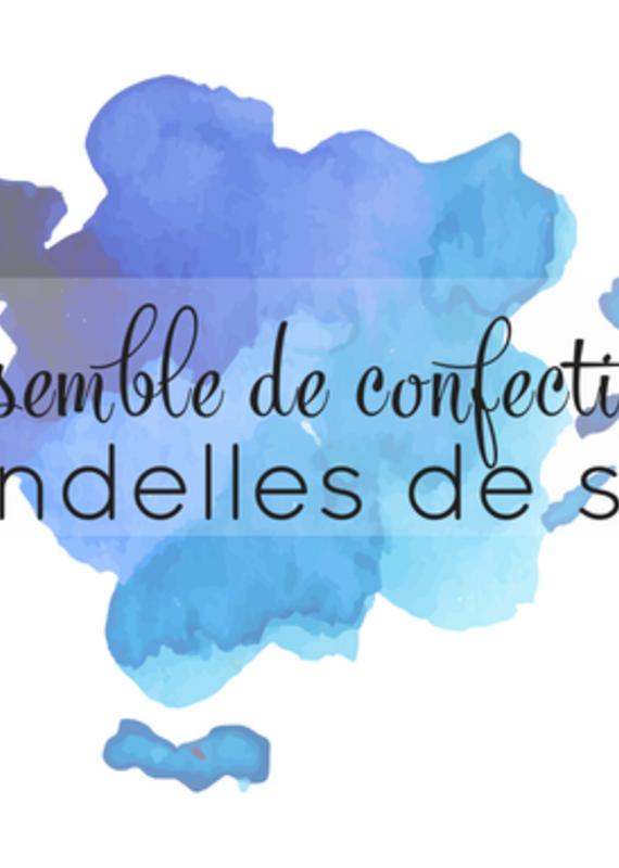 Marée Chandelles Ensemble créatif Chandelle de soya
