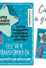 Carte à gratter Baguette magique va te transformer en ...