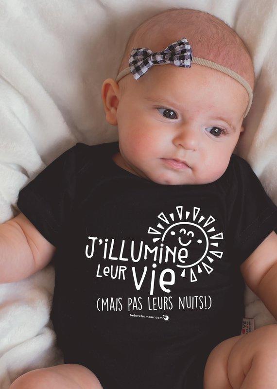 Be Love Cache-couche J'illumine leur vie blanc