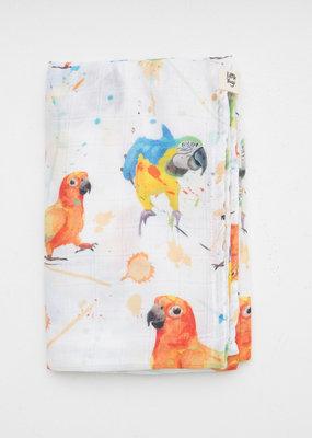 Little Yogi Mousseline Parrots
