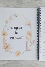 Mon journal de bébé - Fleurs corail