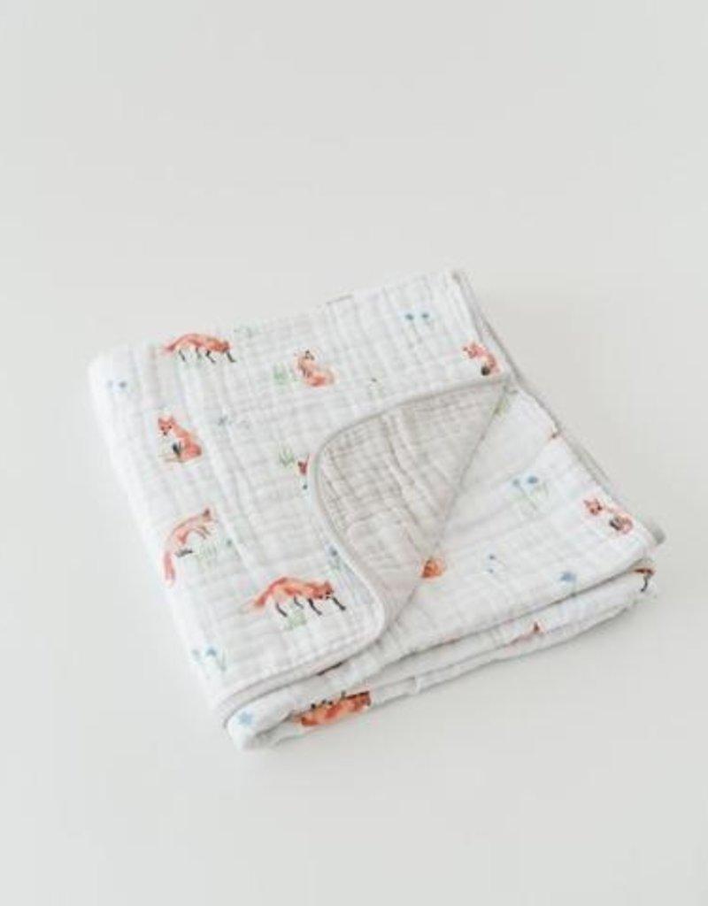 Couverture de mousseline 4 épaisseurs en coton