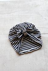 Turban boucle rayure marine