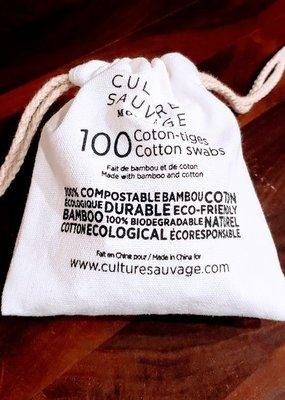 Culture Sauvage Coton-tige en bambou