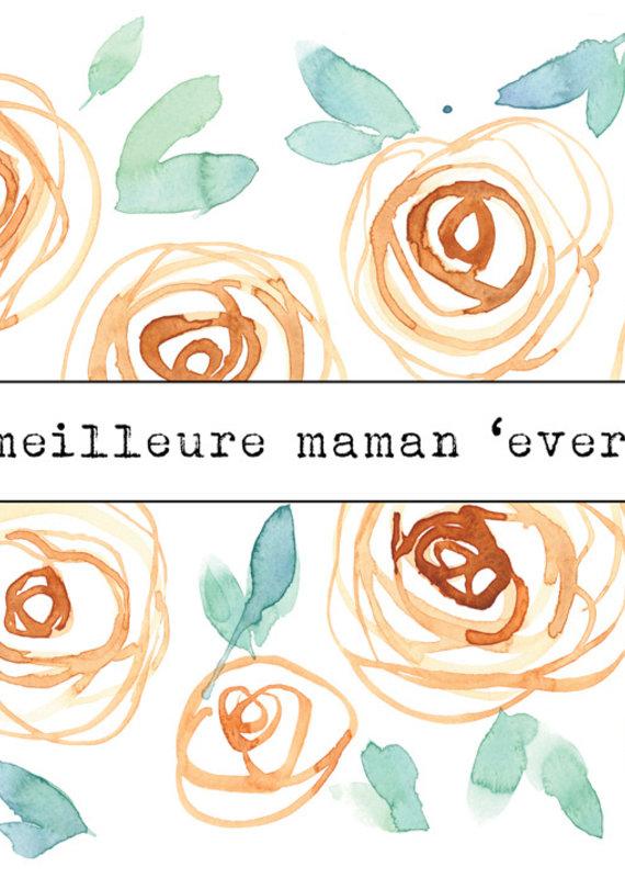 Carte de souhait Meilleure maman ever Penelope3