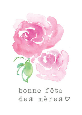 Carte de souhait Fête des mères Rosie 1
