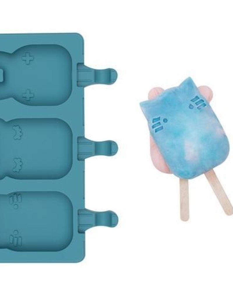 We might be tiny Moules à pop animaux bleu
