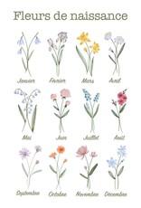 Holive Cache-couche fleur de naissance Juilet