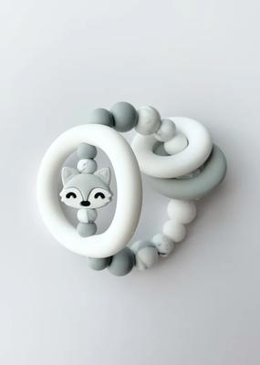 Hochet d'éveil sensoriel Renard gris