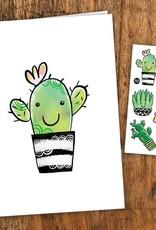 Pico tatouages temporaires Carte de souhait et tatouages temporaires - Cactus