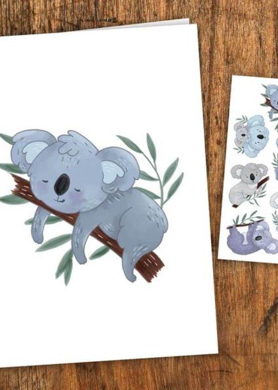 Pico tatouages temporaires Carte de souhait et tatouages temporaires - Lorik le koala