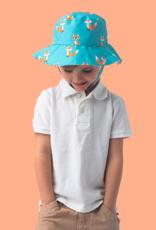 Flapjack Kids Chapeau soleil réversible Renard et hérisson