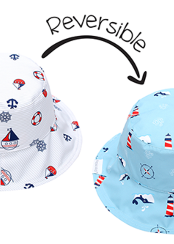 Flapjack Kids Chapeau soleil réversible Nautical