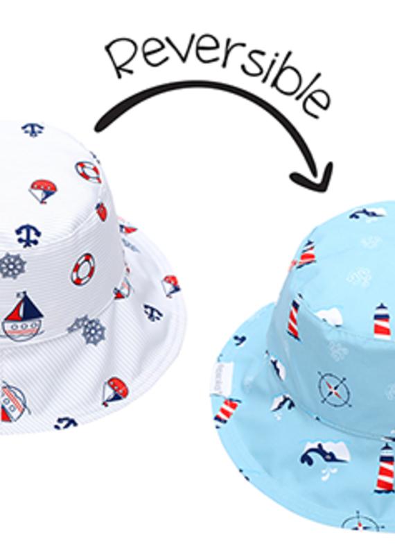 Flapjack Kids Chapeau soleil réversible Nautical