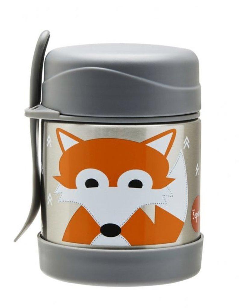 Contenant lunch isotherme acier inox renard