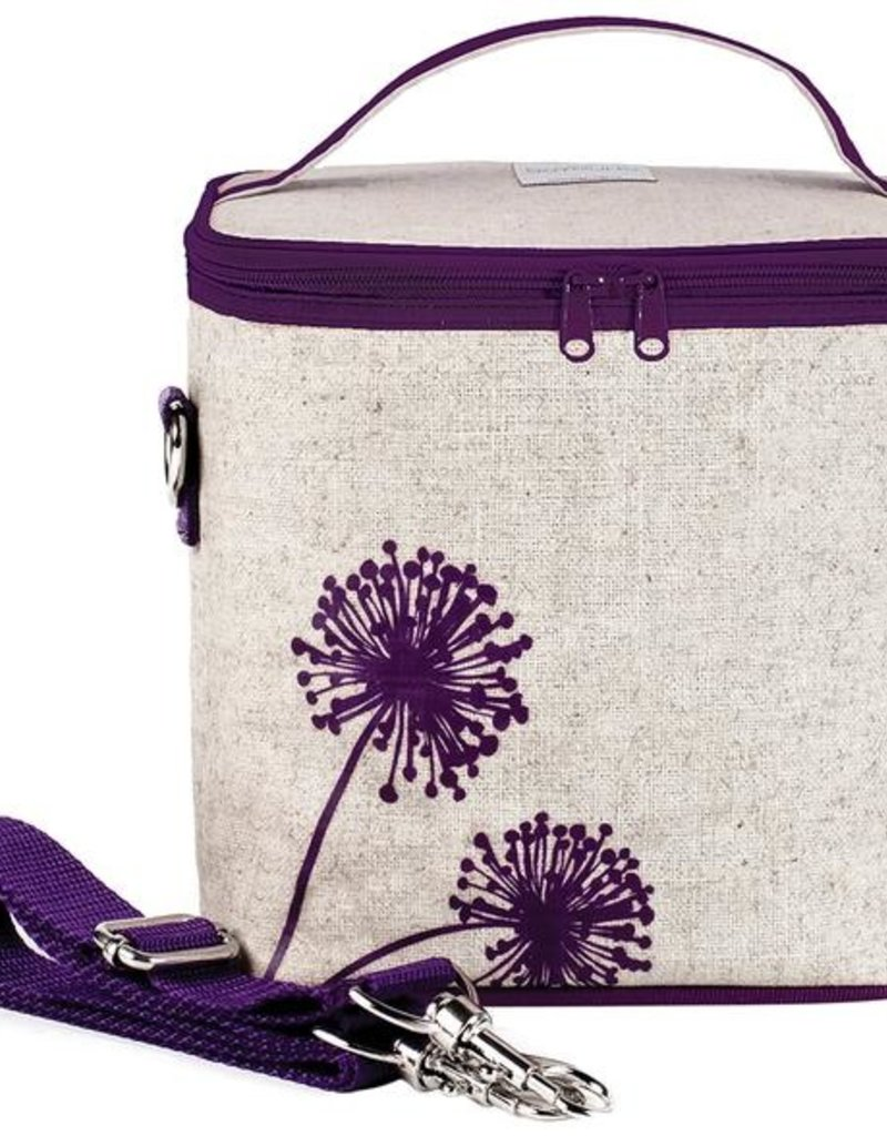 So Young Grand sac Lunch isolé Dandelion pourpre