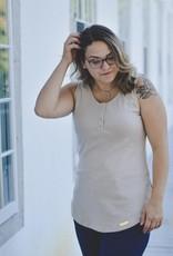 Koallac Camisole réversible maternité et allaitement Annie Crème